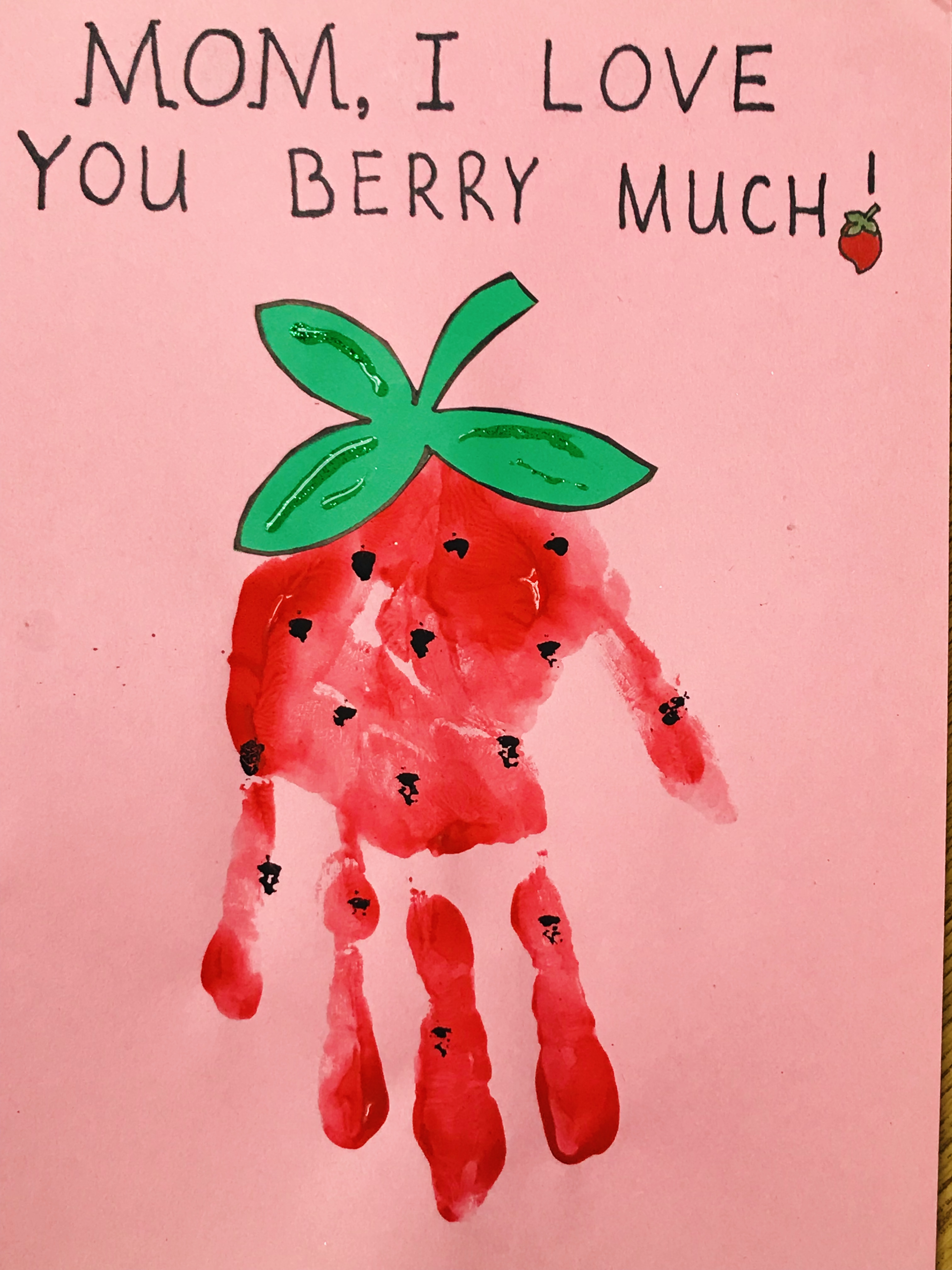Finished Painted Strawberry I Love You Berry Much