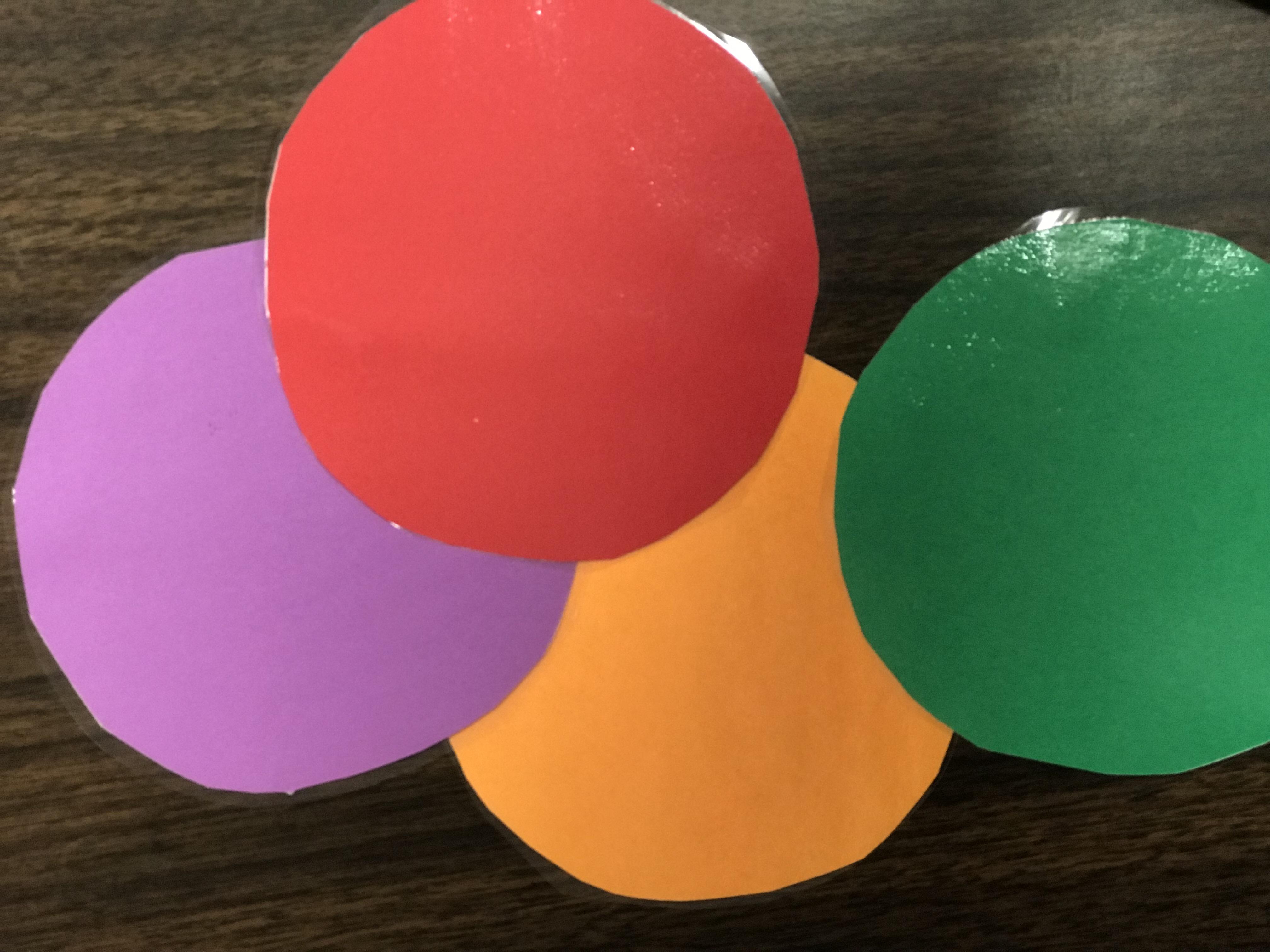 Laminated colored circles