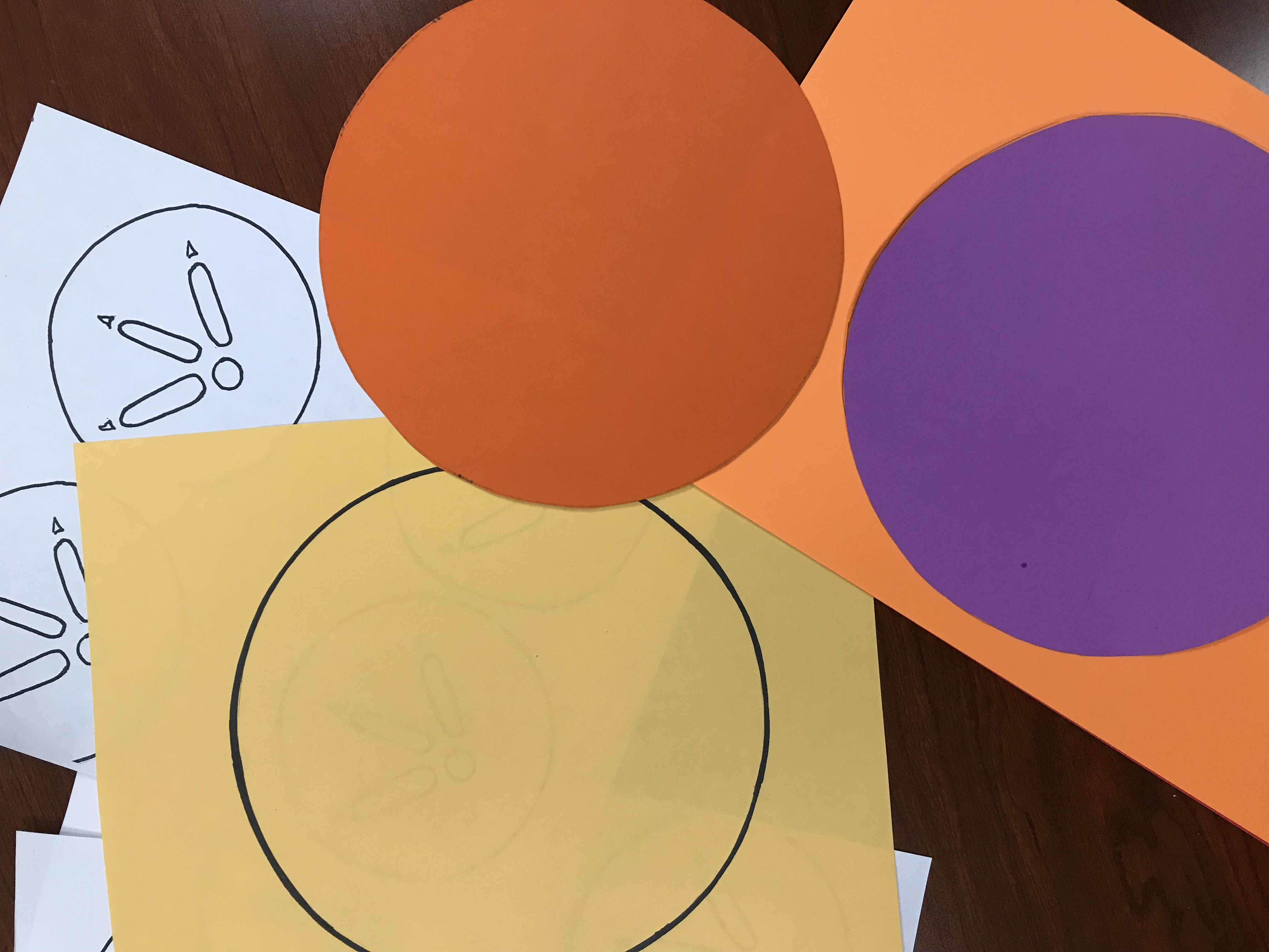 Cut out colored circles