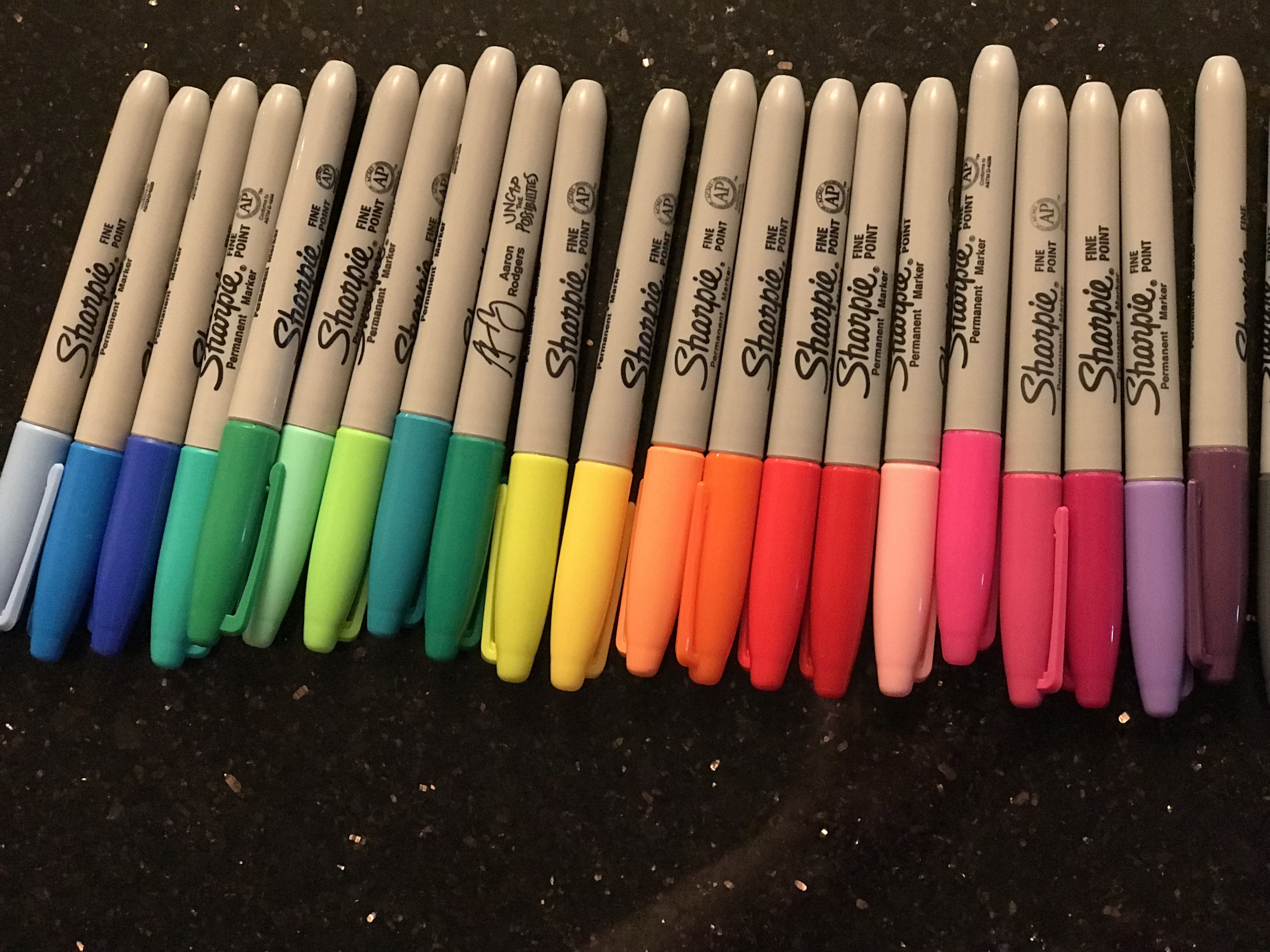 Assorted colored Sharpies