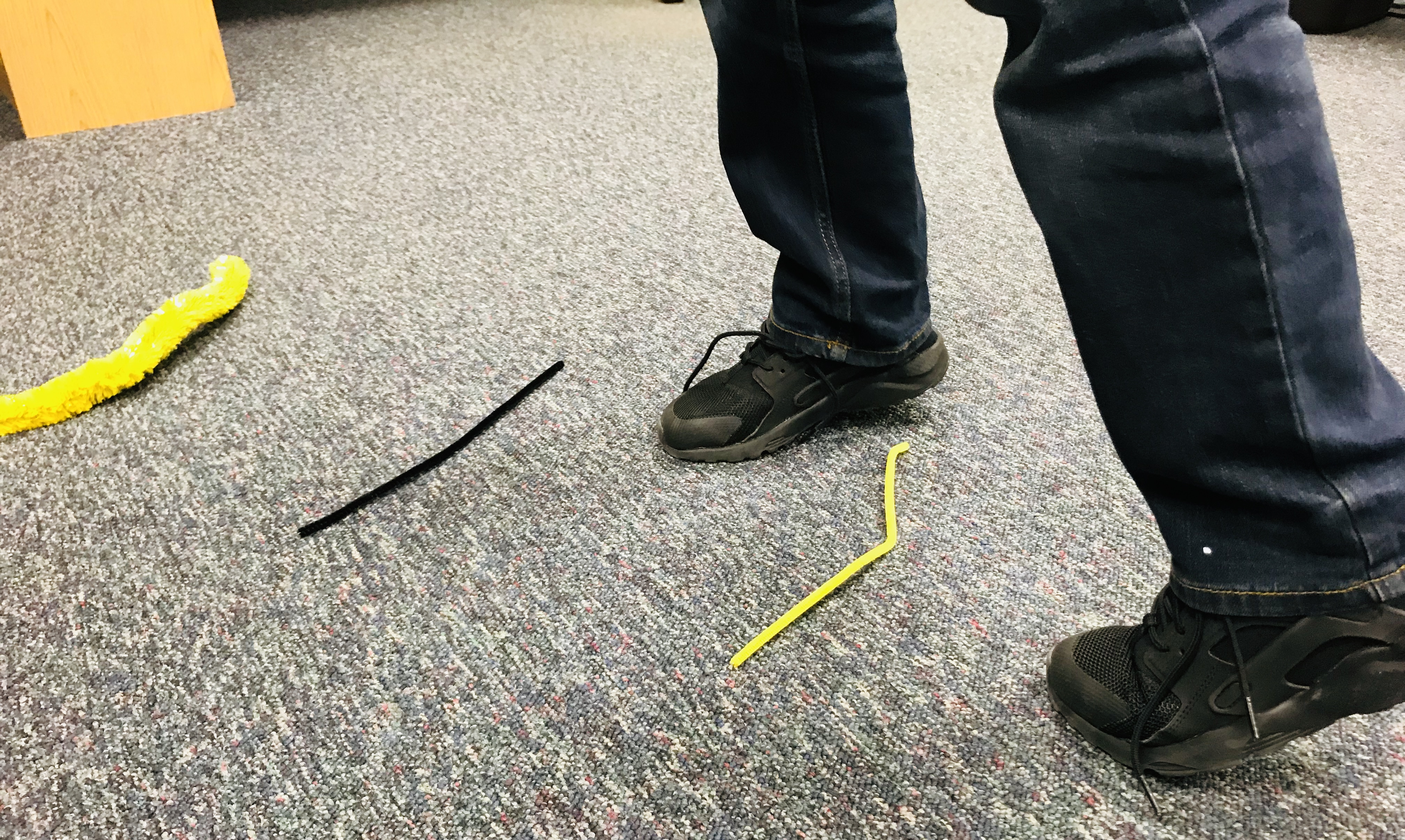 Tip toe over pipe cleaning stems