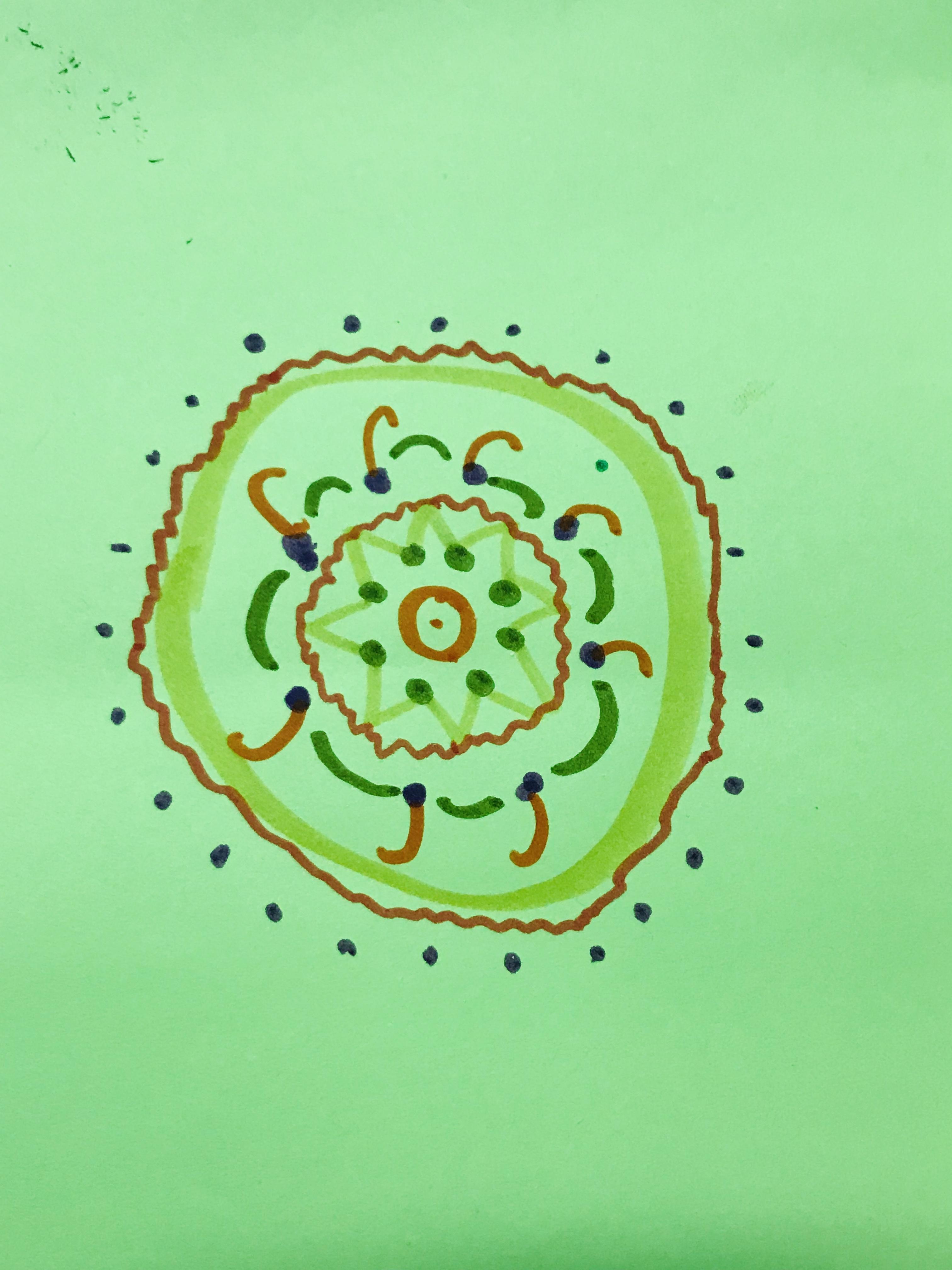 Green circular mandala