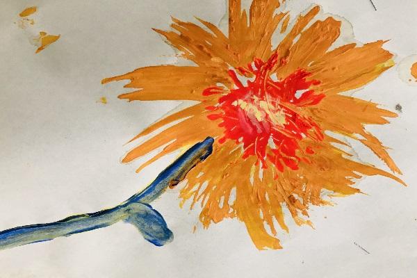 Fork Painting Flower thumbnail