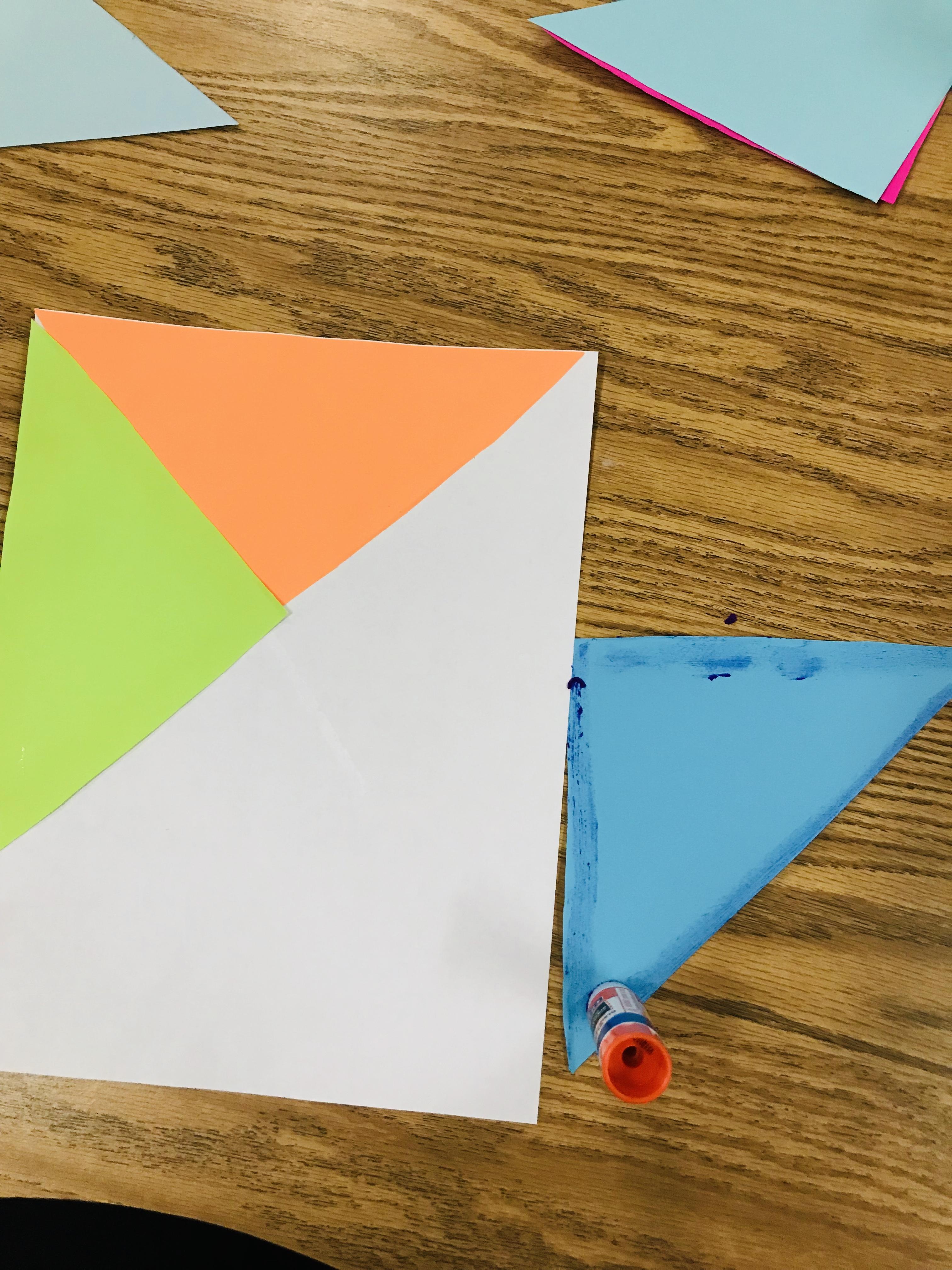 Gluing paper quilt