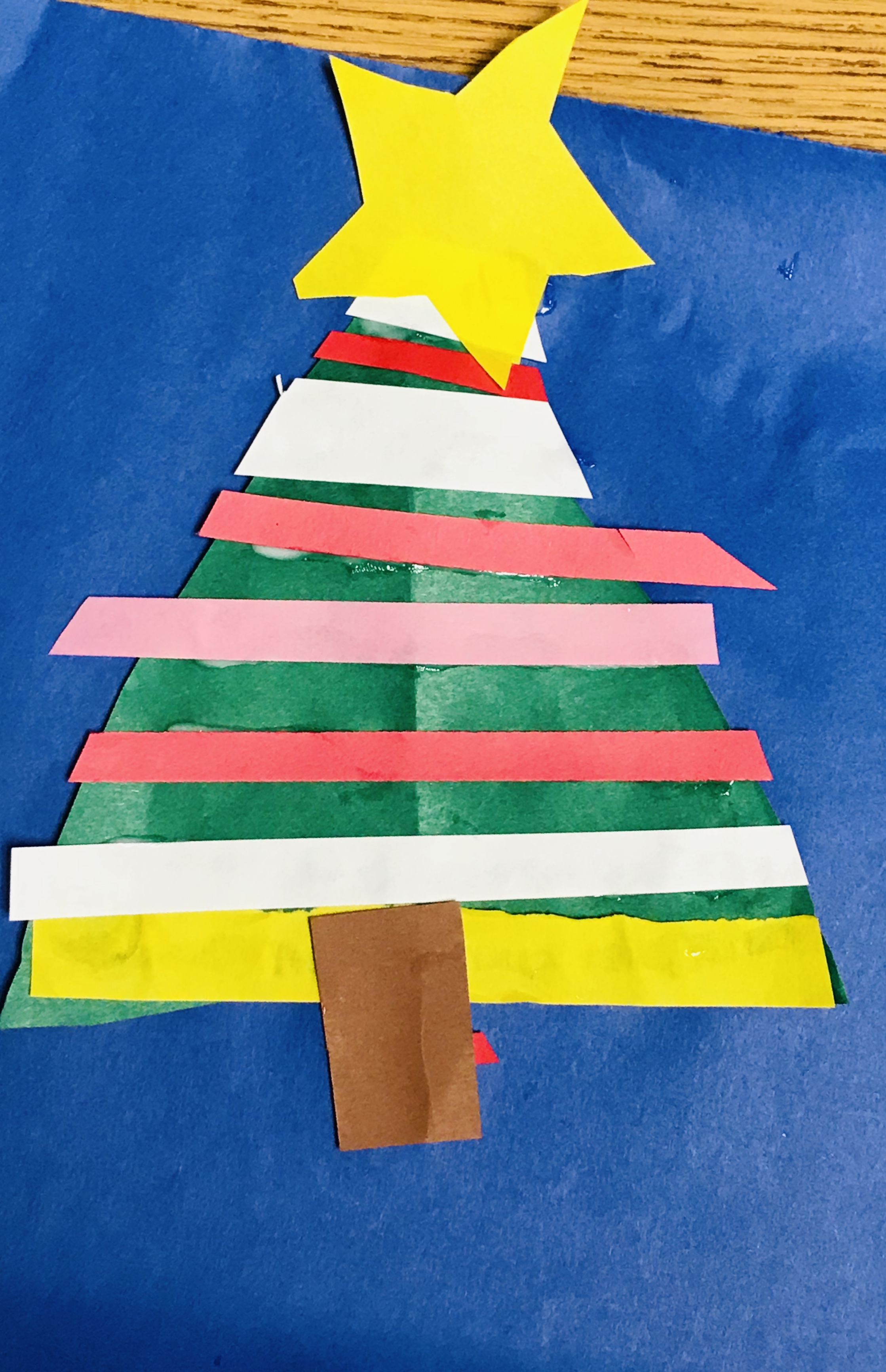 Completed paper Christmas tree