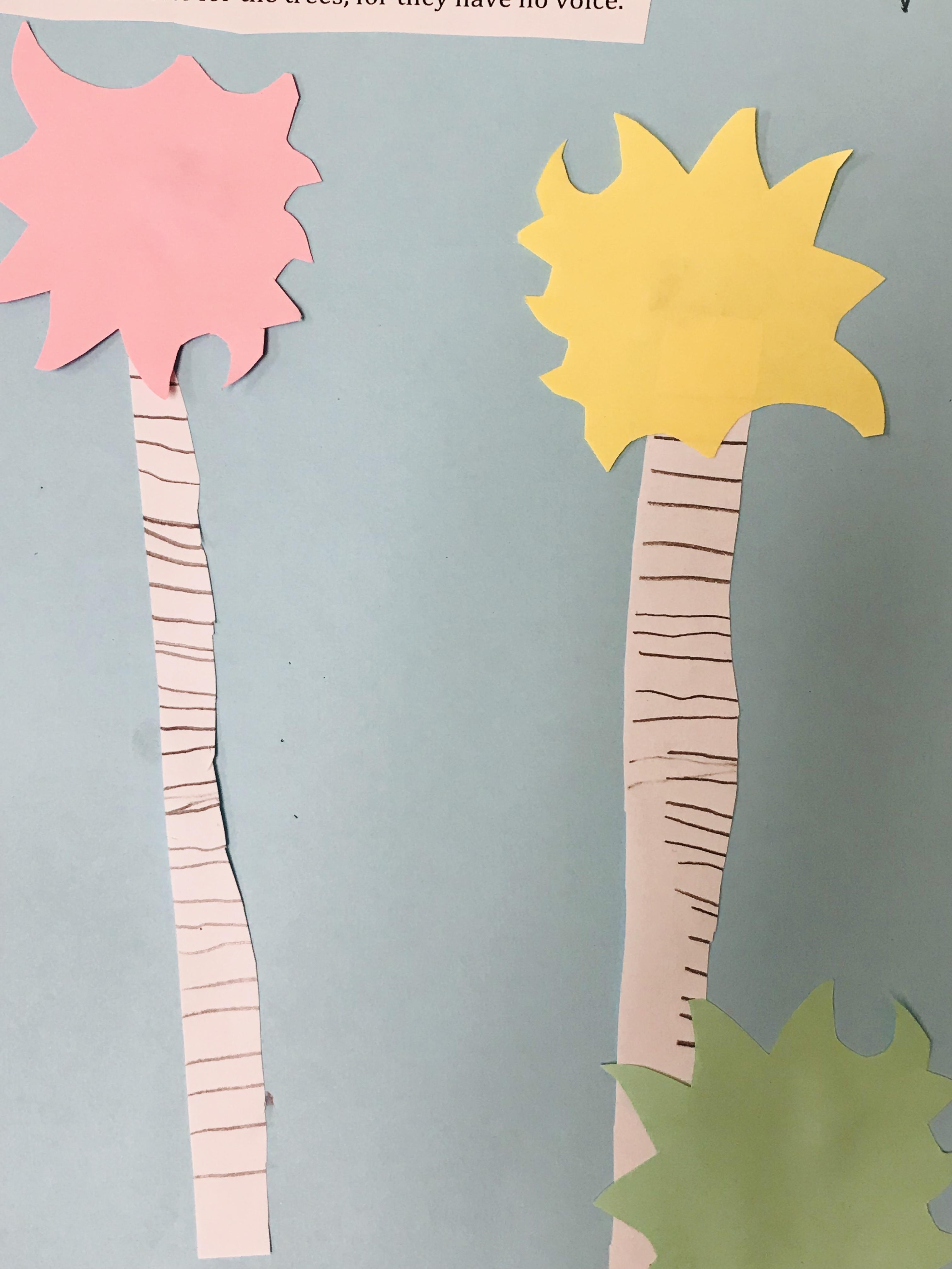 Dr. Seuss paper trees