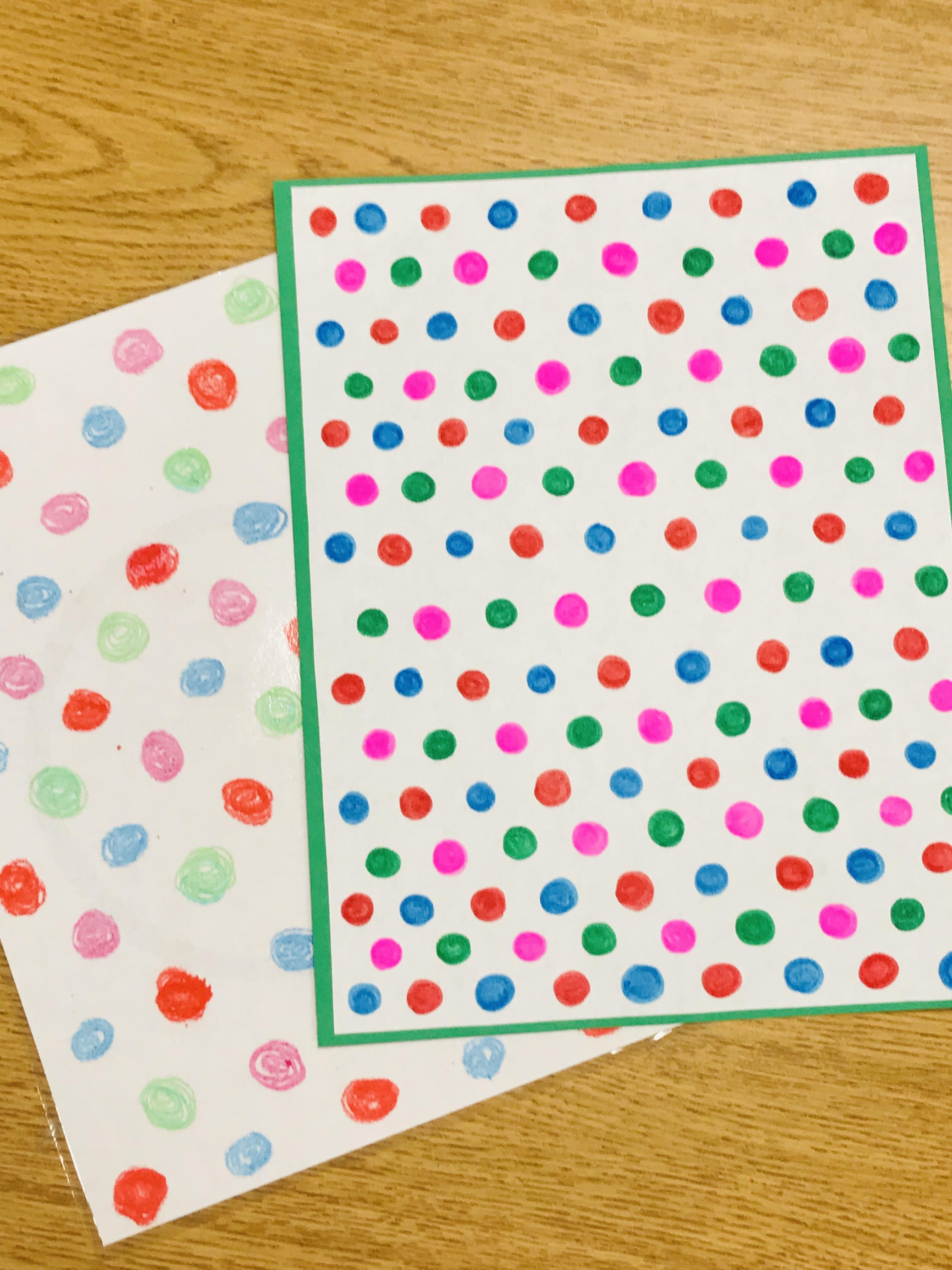 Sheet of colorful polka dots
