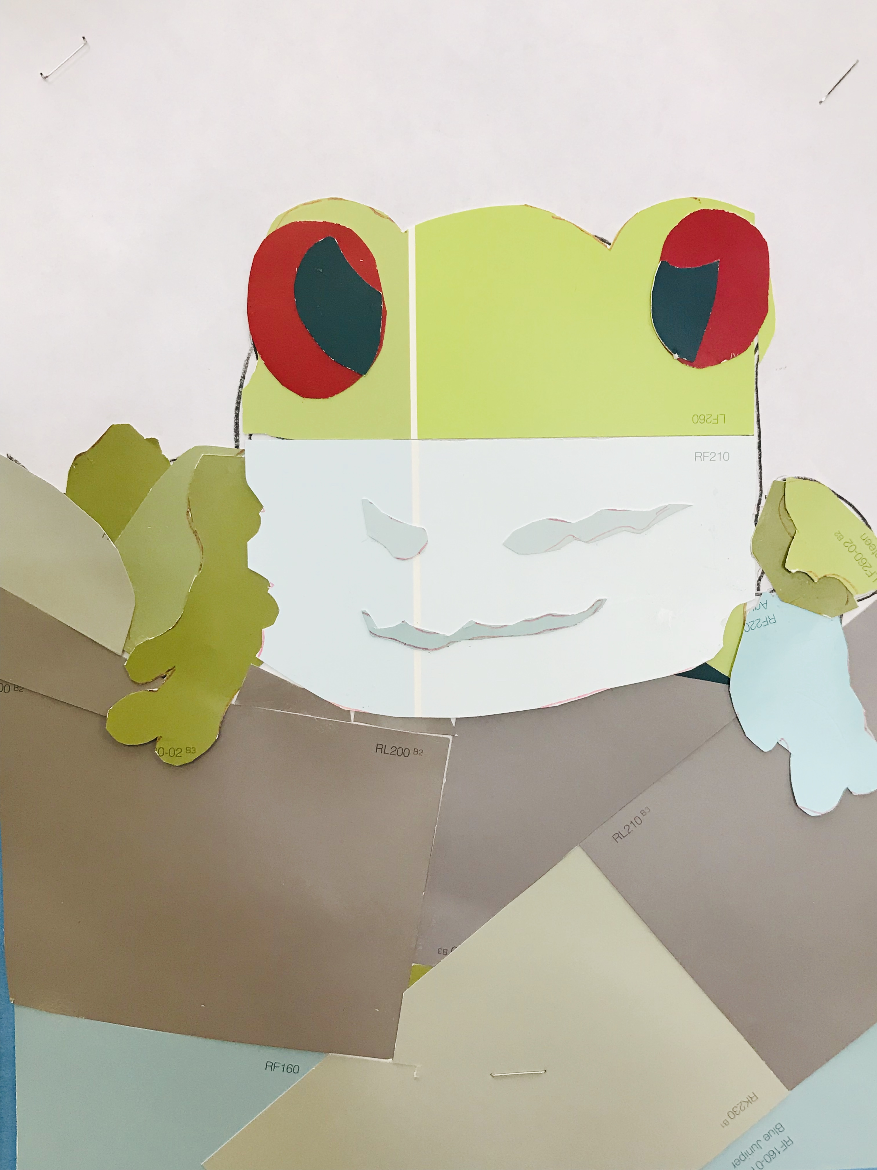Paint card frog