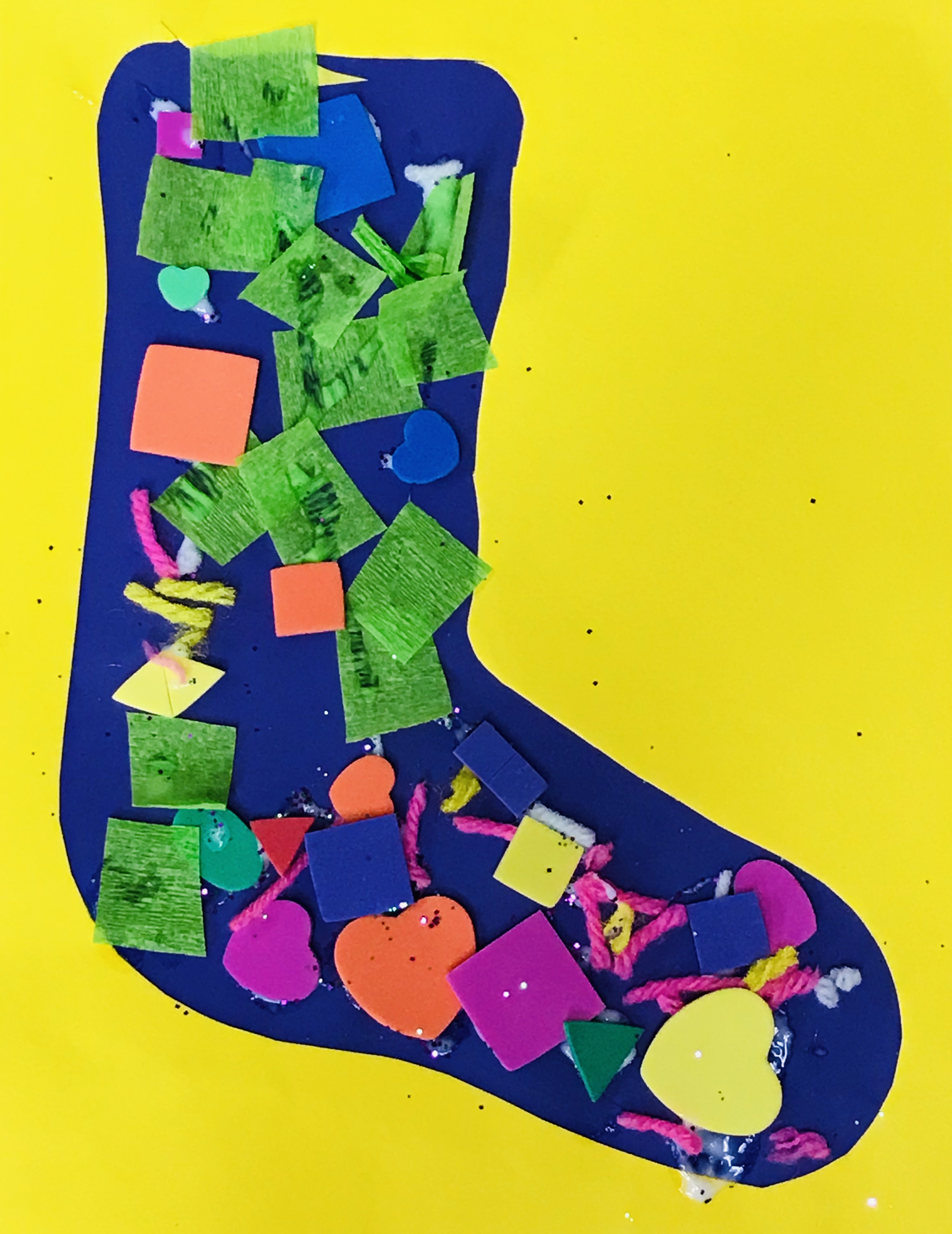 Paper sock with various shapes