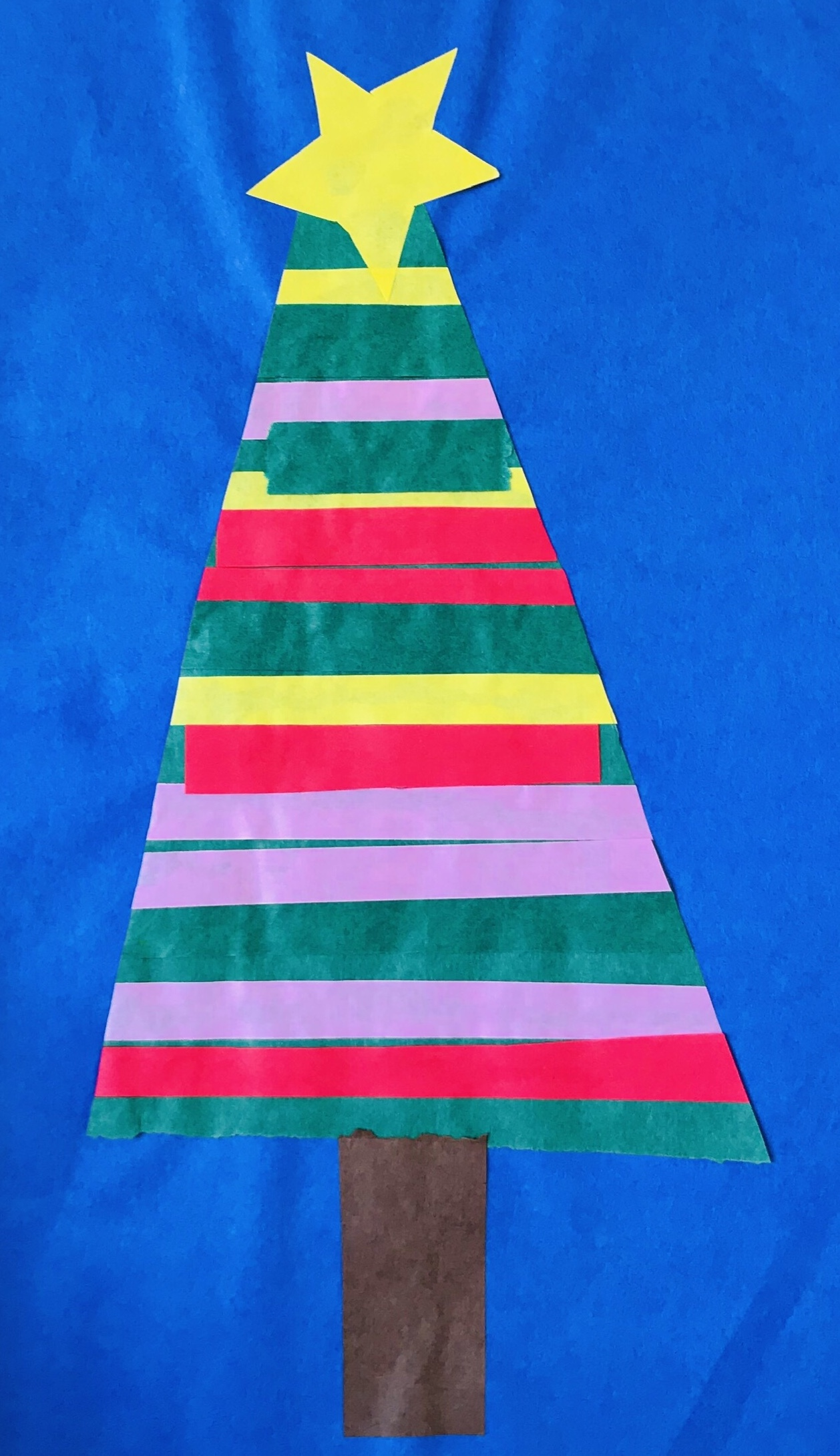 Finished paper strip Christmas tree