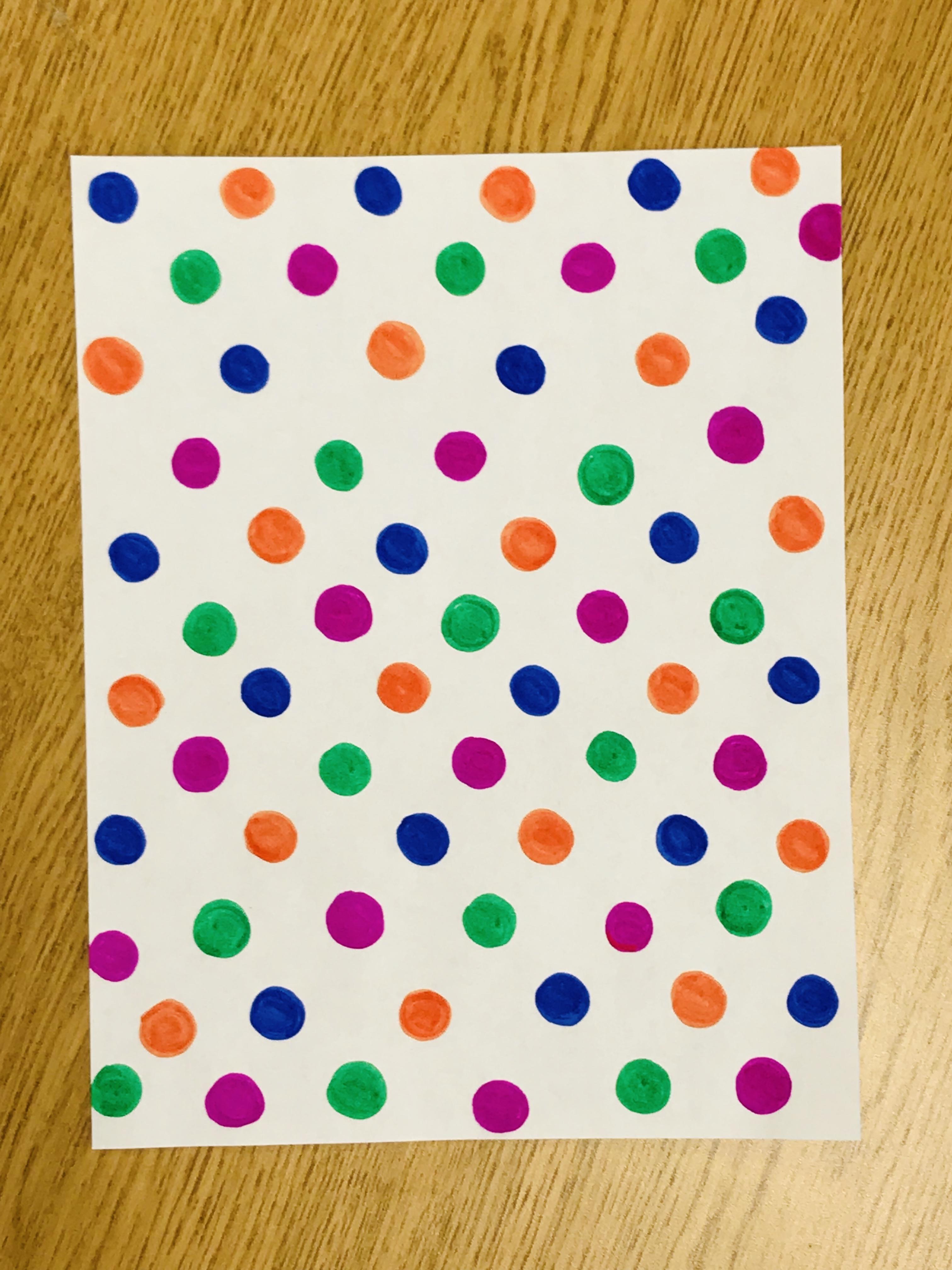 Polka dot sheet