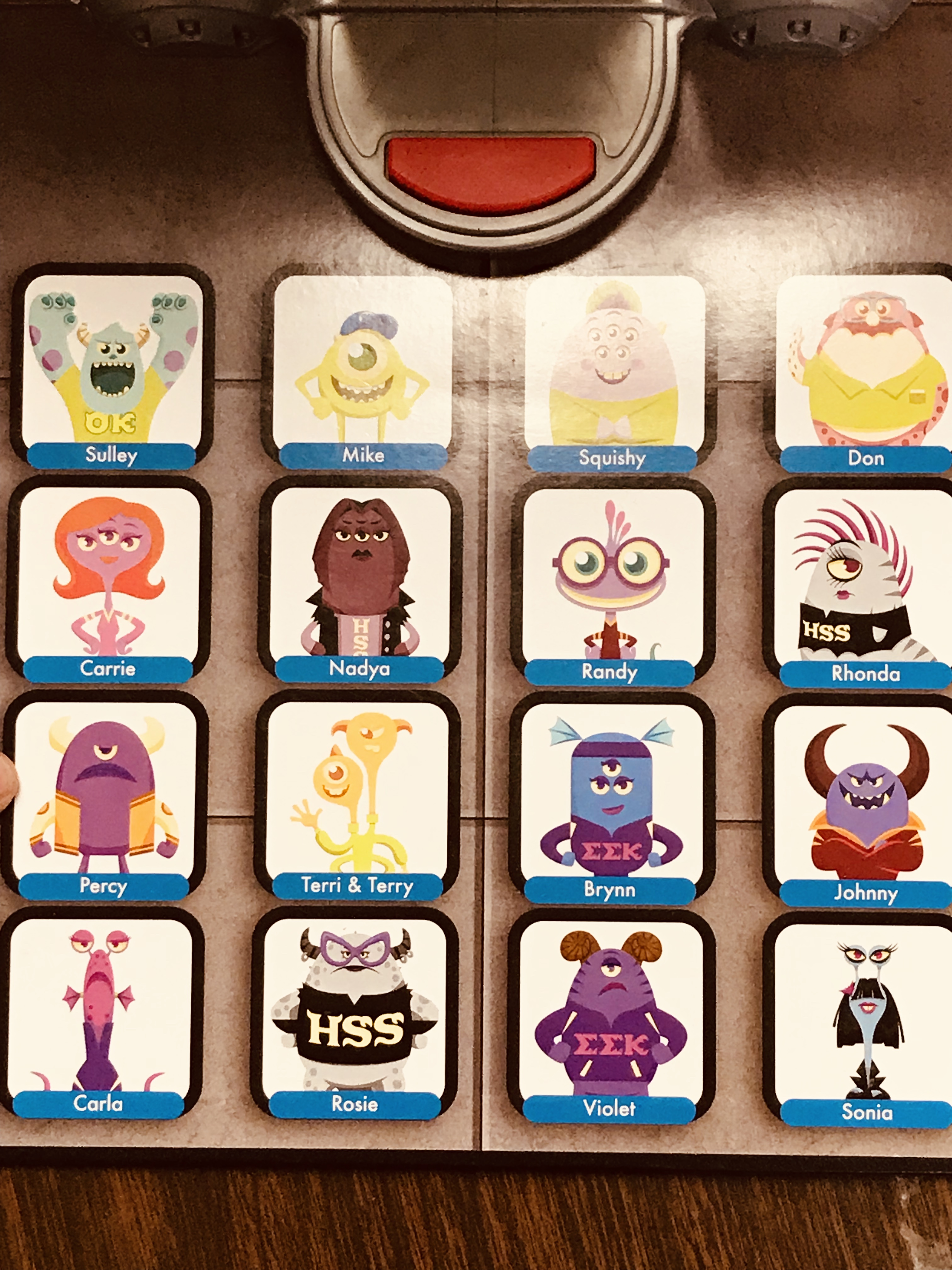 Sheet of different monsters from Monsters Inc