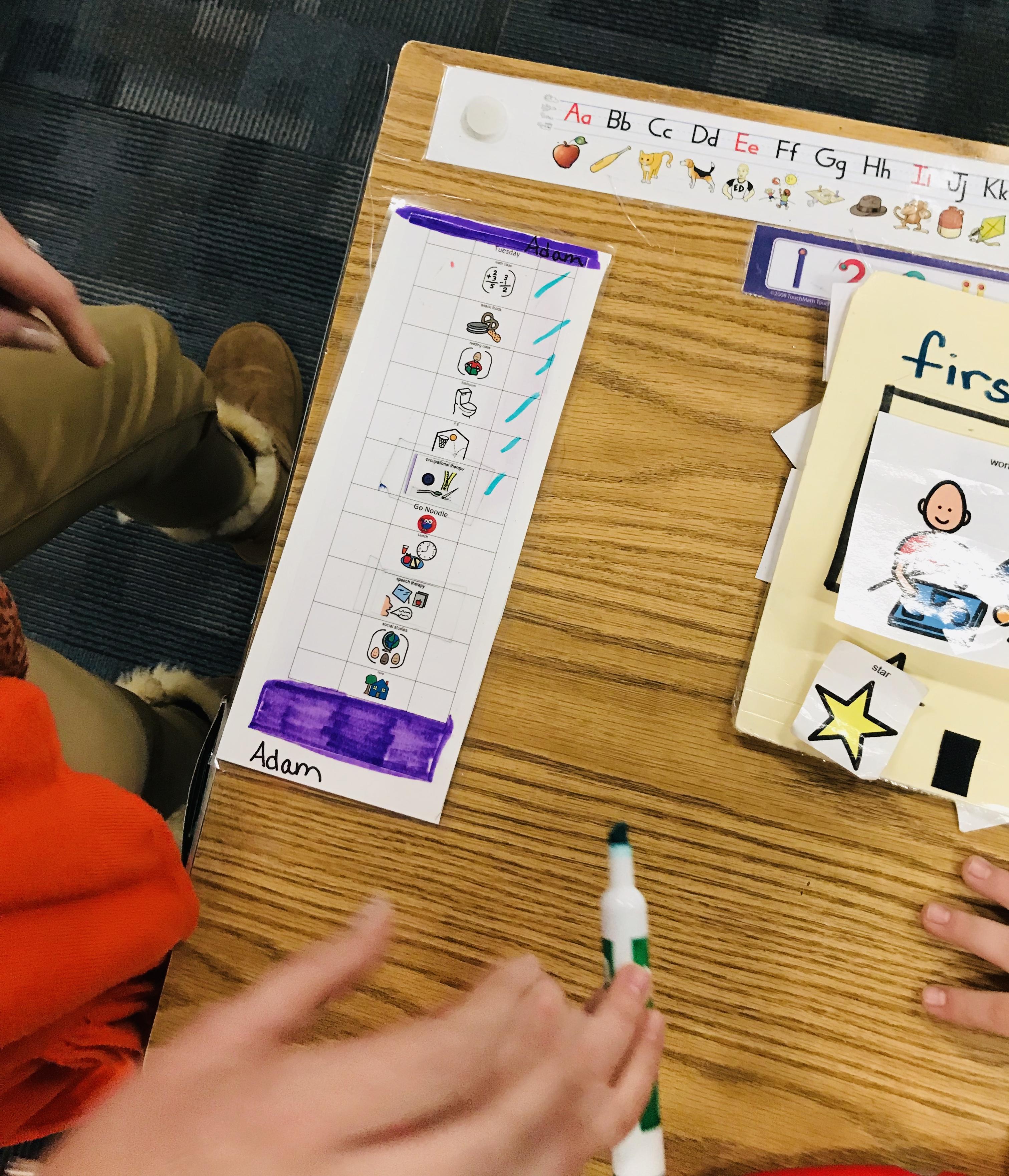 Marking sheet of various things