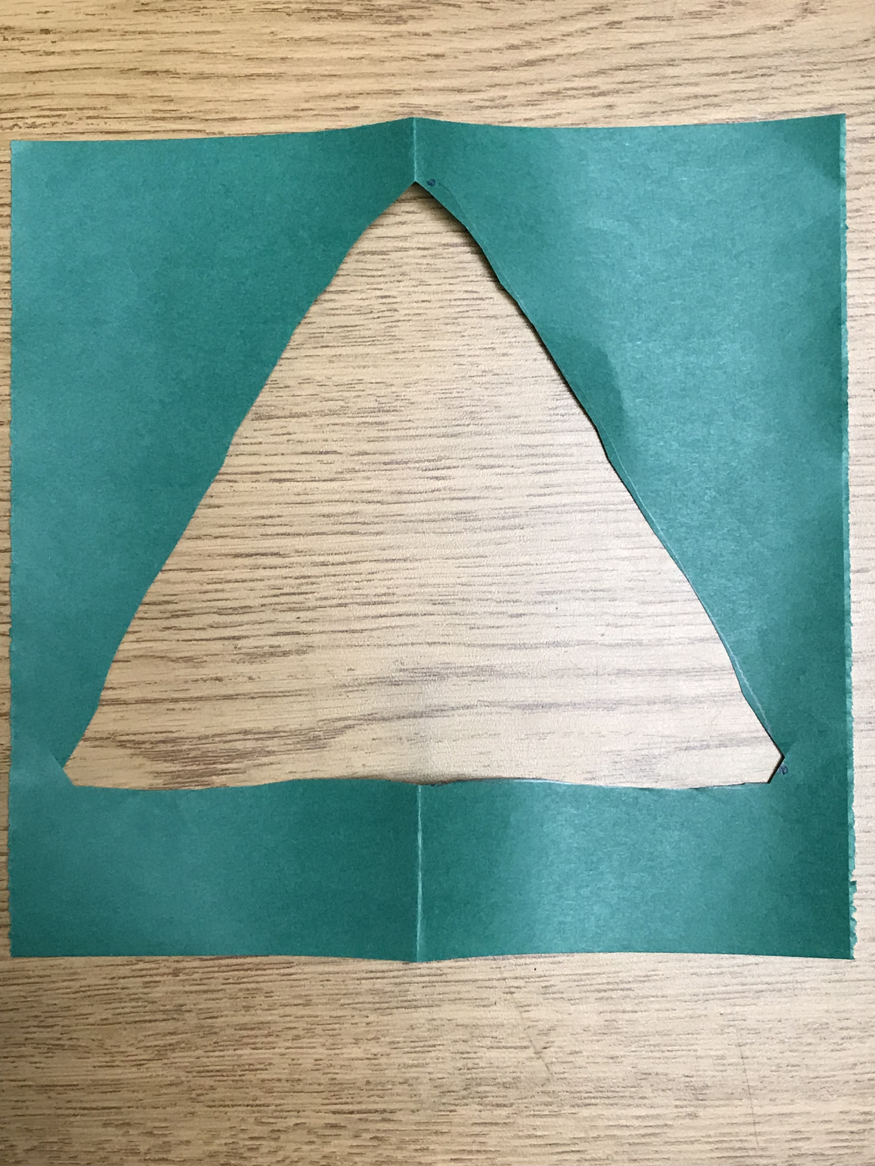 Paper Christmas tree outline