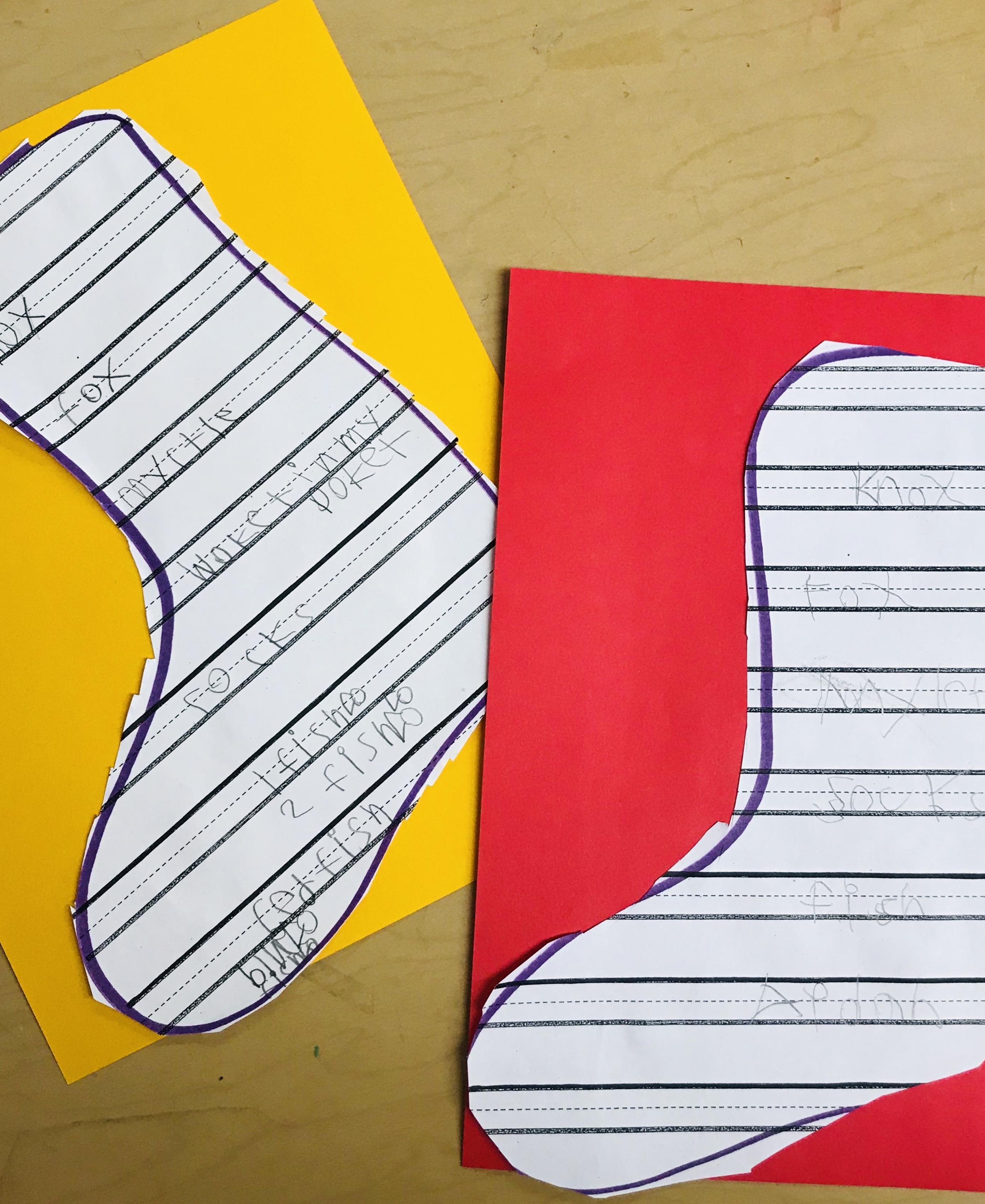 Written paper socks