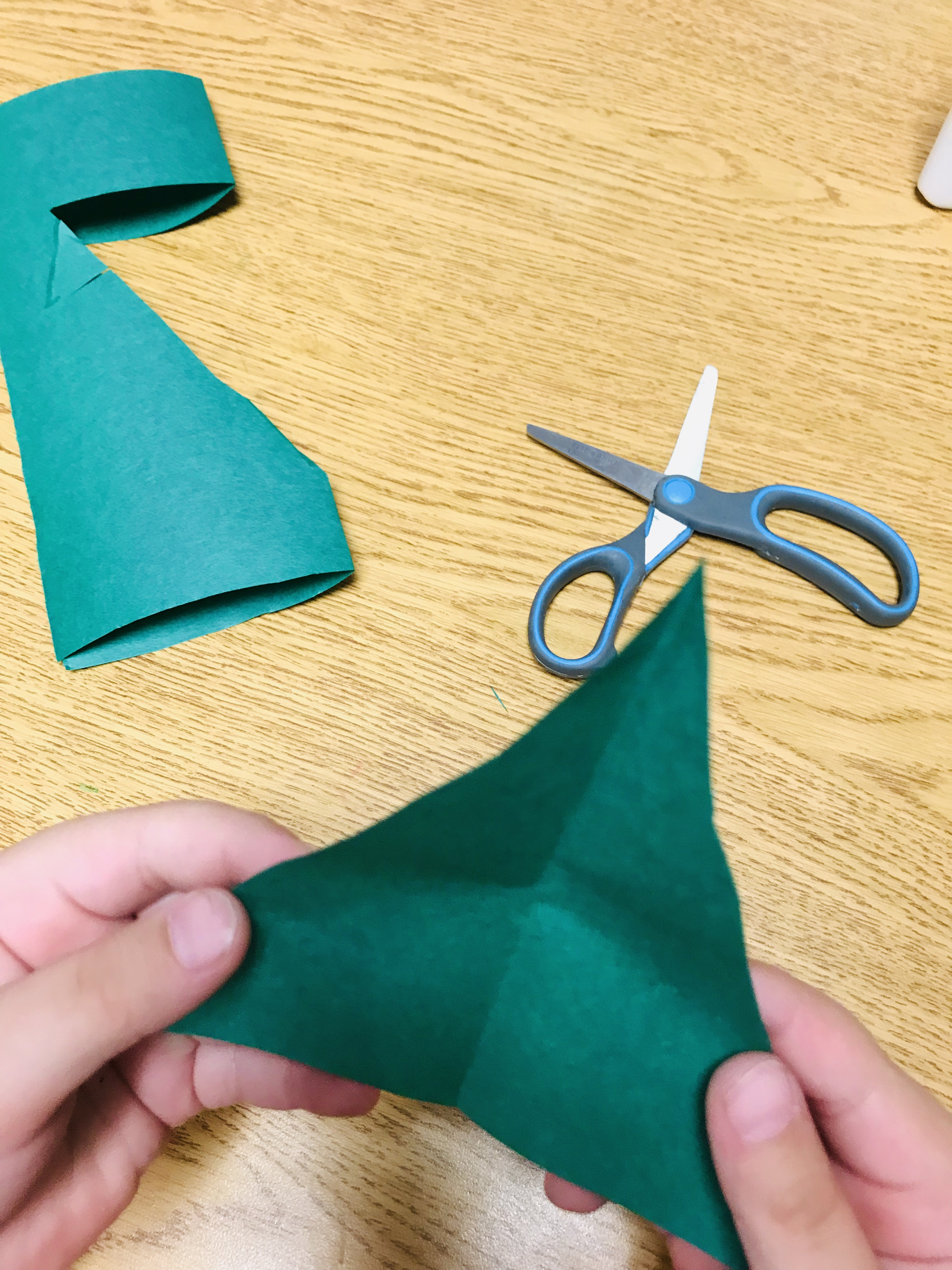 Cut out piece of paper Christmas tree
