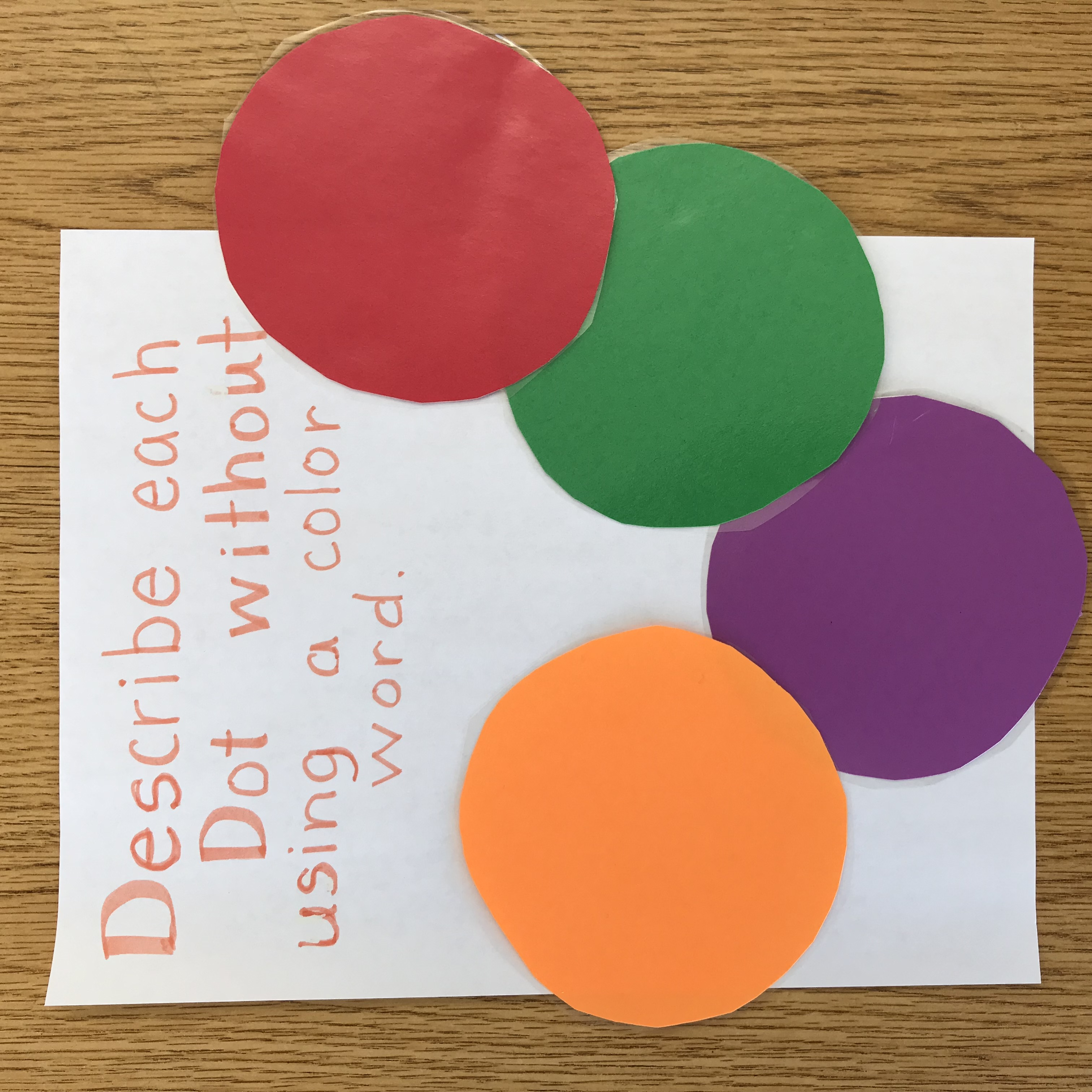 Colorful paper dot activity