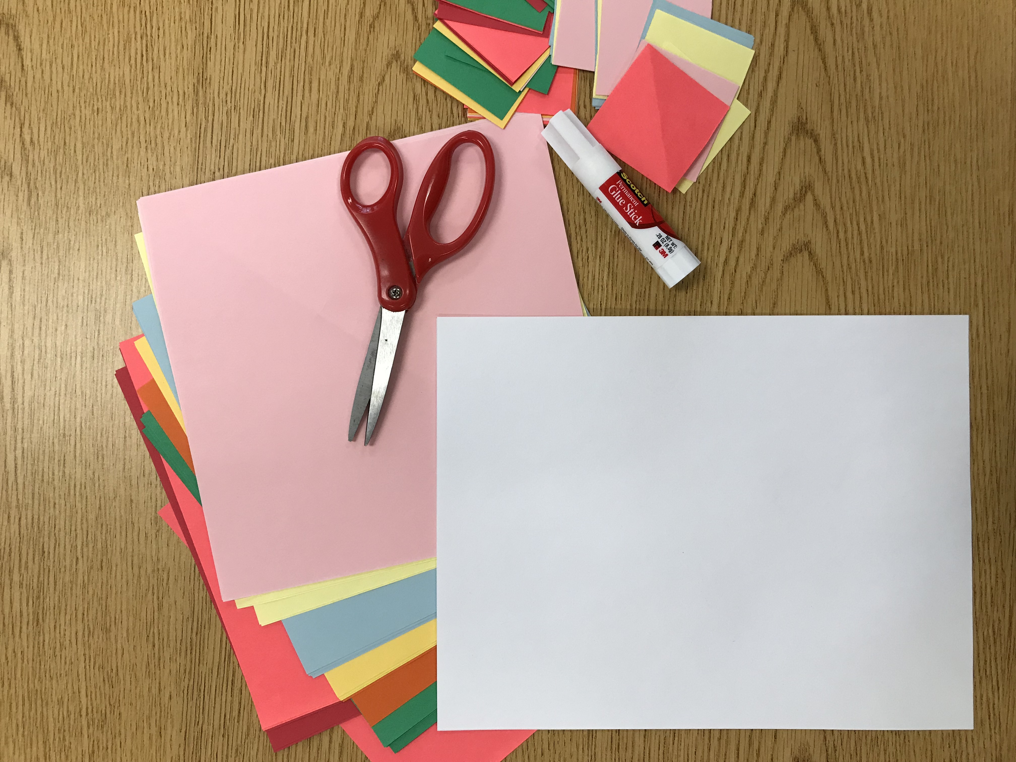 Colorful assortment of papers