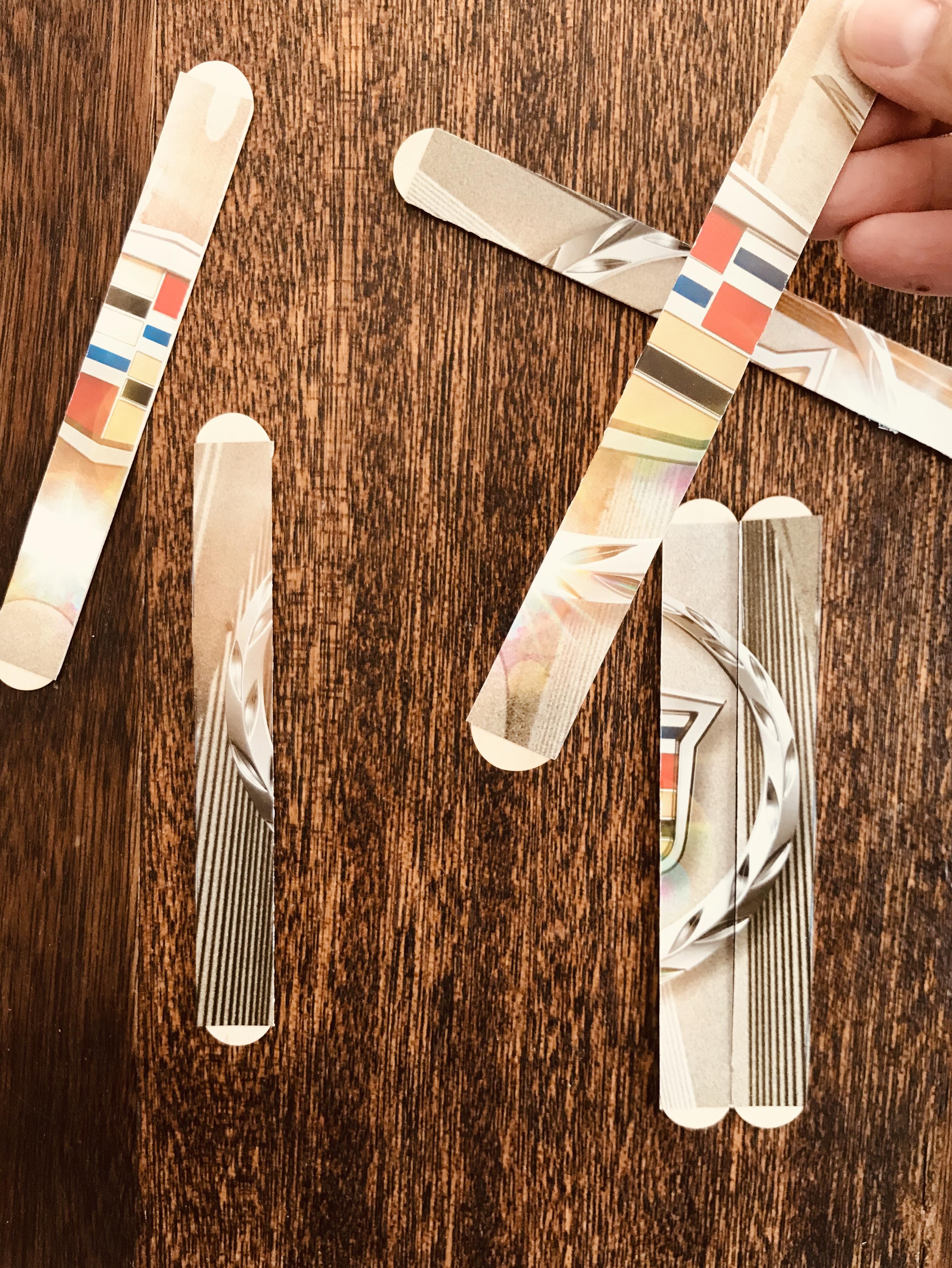 Shuffled popsicle stick image