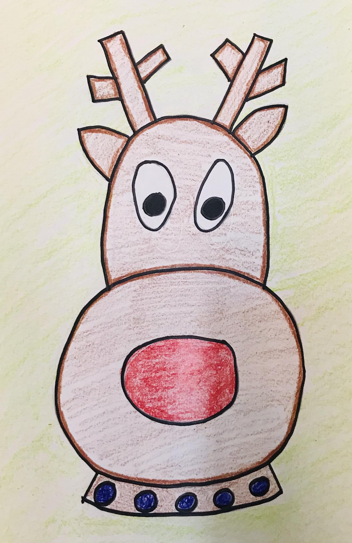 Drawn reindeer example