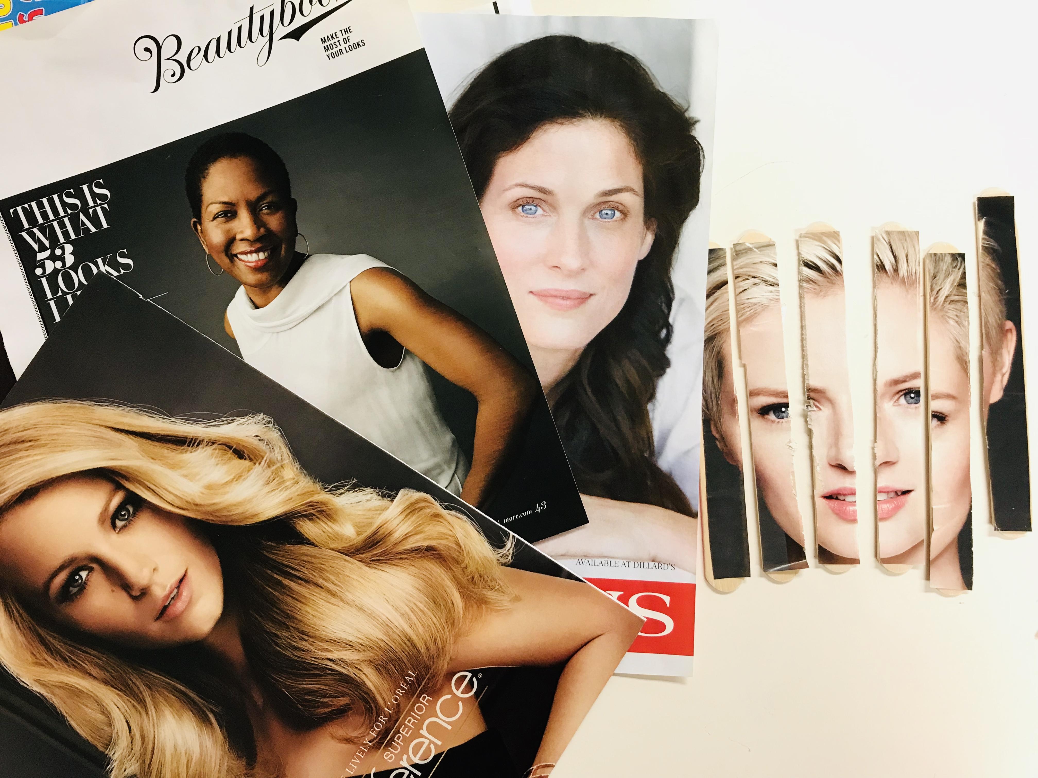 Magazine images of women