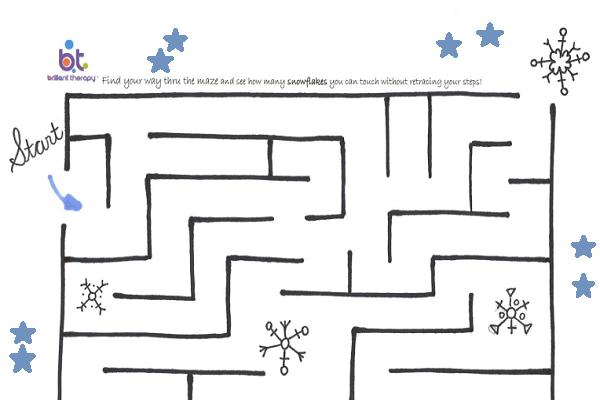 snowflake-maze