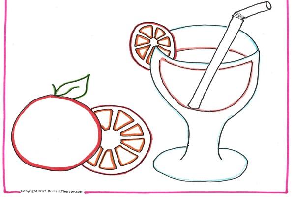 draw a fruit