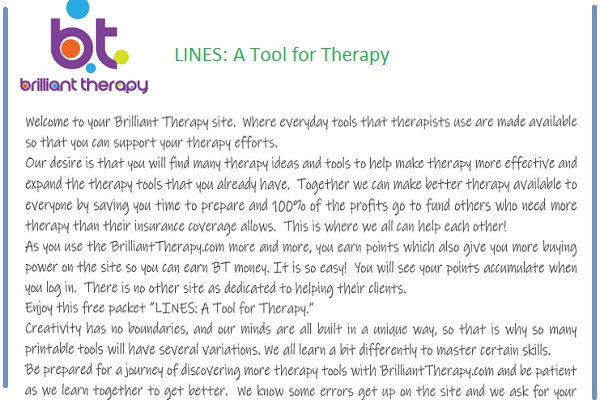 lines a tool for therapy