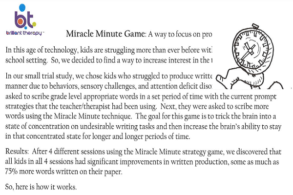 miracle minute game